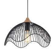 CLA Lighting Spiaggia Dome Pendant in Black or White Metal
