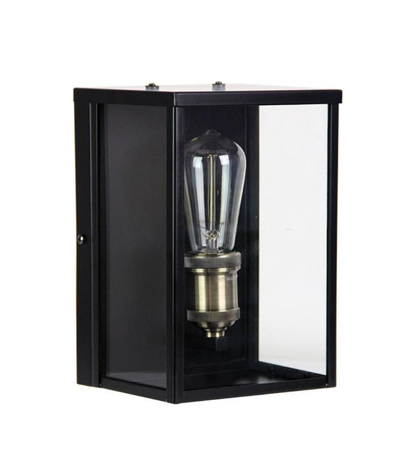 Wall Light Outdoor Matt Black E27 in 25cm Oakland Oriel Lighting - Alpha Lighting & Electrics