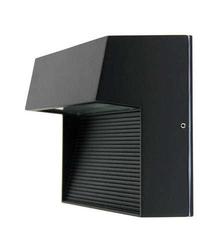 LED Wall Light Outdoor Square Black or Graphite E27 6W in 4000K 16cm Vargo Oriel - Alpha Lighting & Electrics