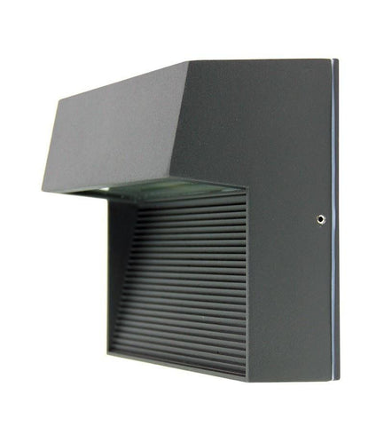LED Wall Light Outdoor Square Black or Graphite E27 6W in 4000K 16cm Vargo Oriel