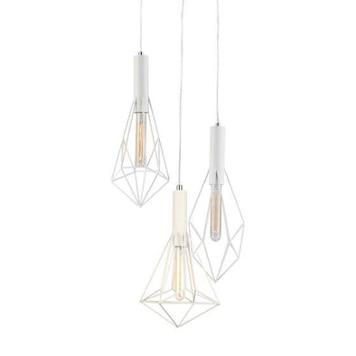 CLA Lighting Whiteband 3 Light Diamond Pendant