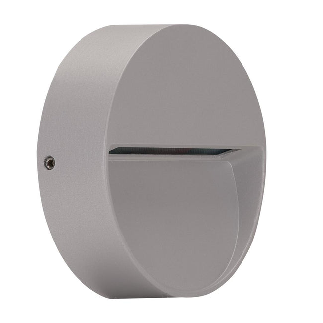 Domus Lighting ZEKE-4-4W-RND Round Surface Mounted LED Steplight - Silver