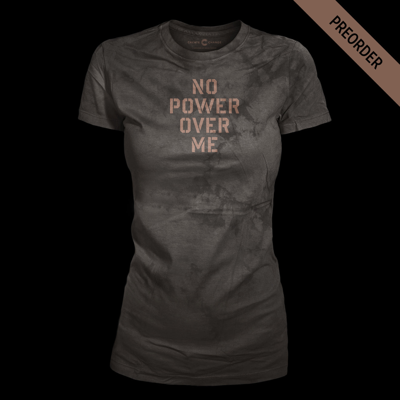 No Power Over Me Distressed Lady's Tee