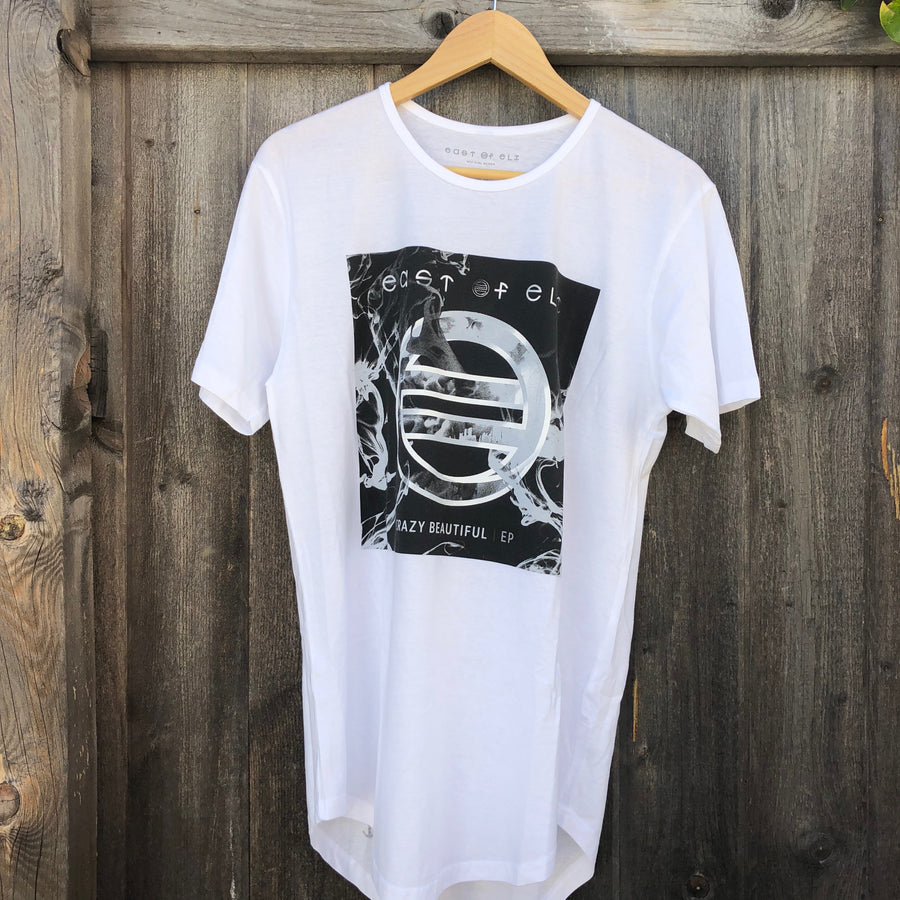 East of Eli White Crazy Beautiful Extended Tail T-Shirt
