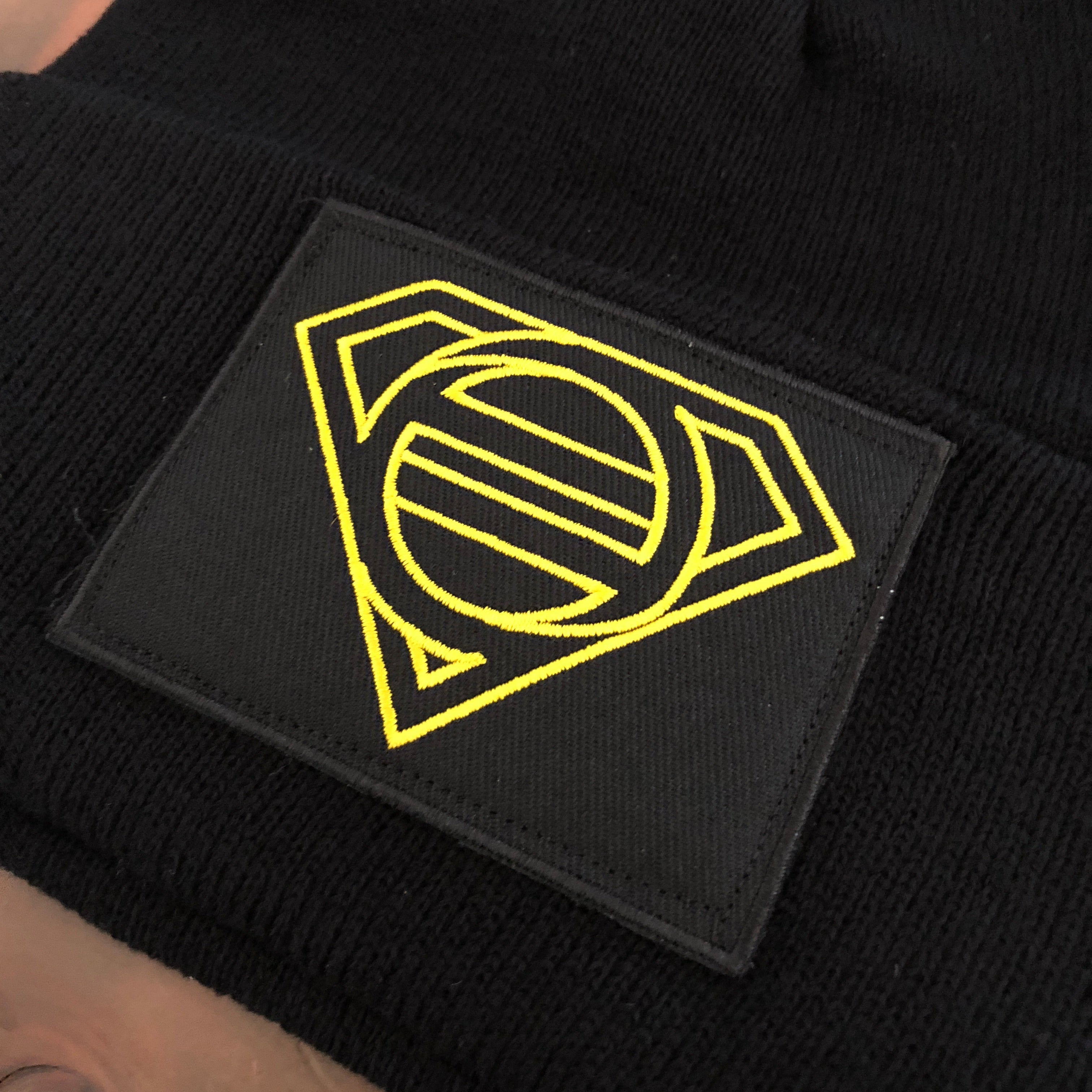 East of Eli Black Superhero Patch Beanie