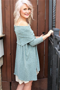 1 LEFT! Swingy Cowl Neck/Off Shoulder Dress or Tunic Sweater