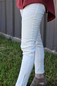Moto Jeggings-Off White