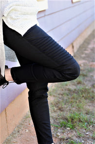 Moto Jeggings-Black