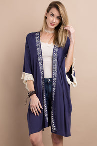 Boho Embroidered Cardigan