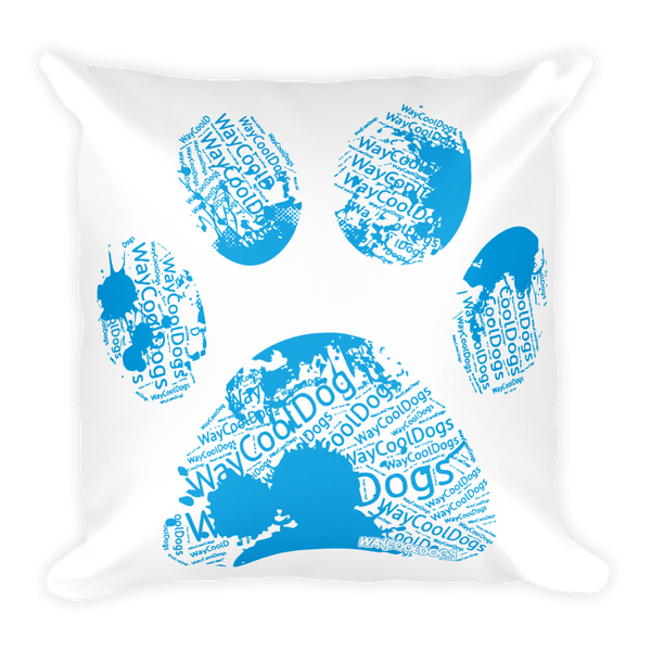 Pillow - Blue Paw Print