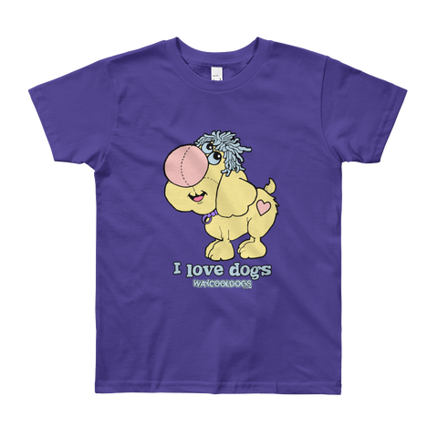 I Love Dogs - Youth Short Sleeve T-Shirt