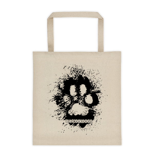 Tote Bag - Black Paw Print