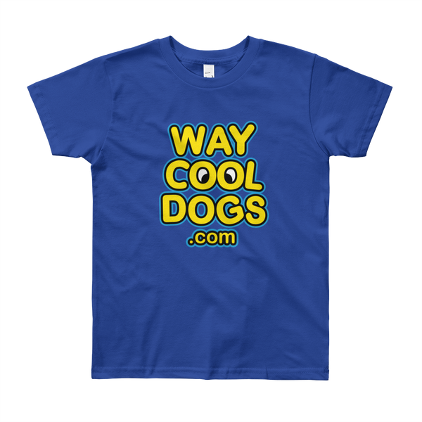 Way Cool Dogs Logo - Youth Short Sleeve T-Shirt