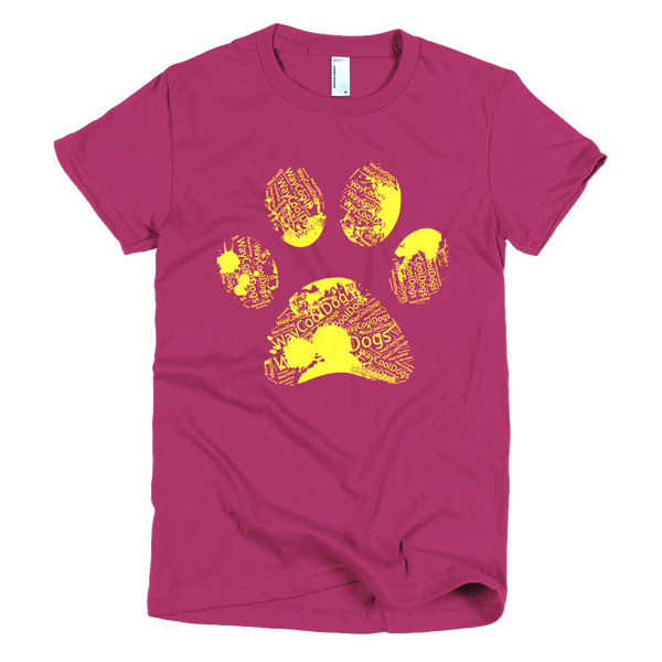 Paw Print Yellow - women's t-shirt