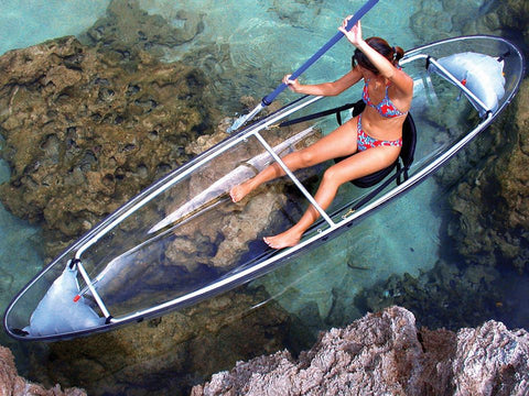 clear kayaking transparent kayak cheap kayaks