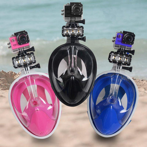 Full face diving mask with ear plug