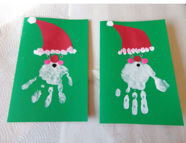 homemade childrens christmas cards