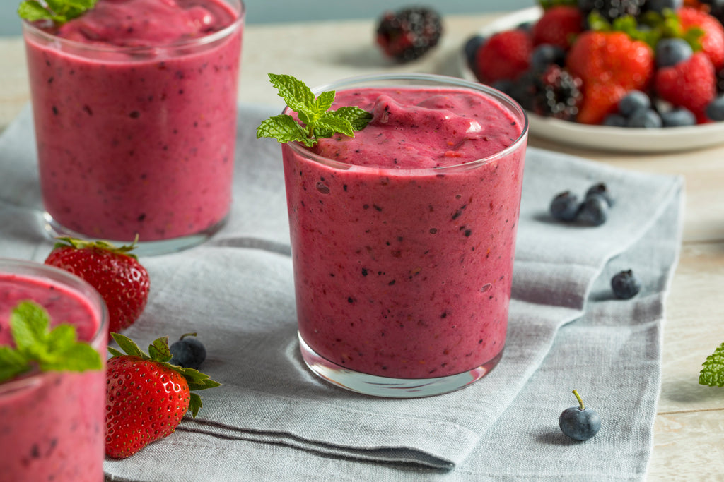 Smoothie in a glass cup