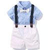 Baby Boy Suspender Bow Set