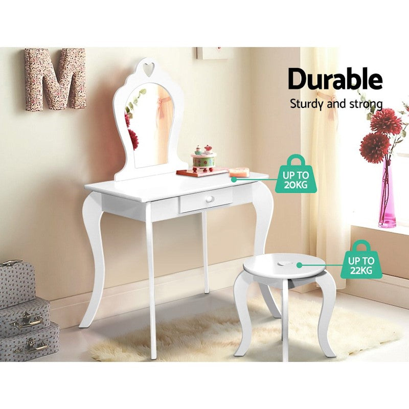 Kids Makeup Vanity Table Stool Set