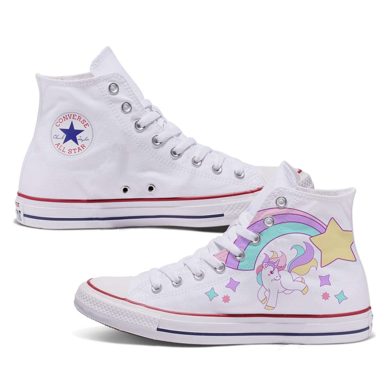 Details about Converse Girls Chuck Taylor All Star Unicorn Hi Top Sneakers Kids Size US 12