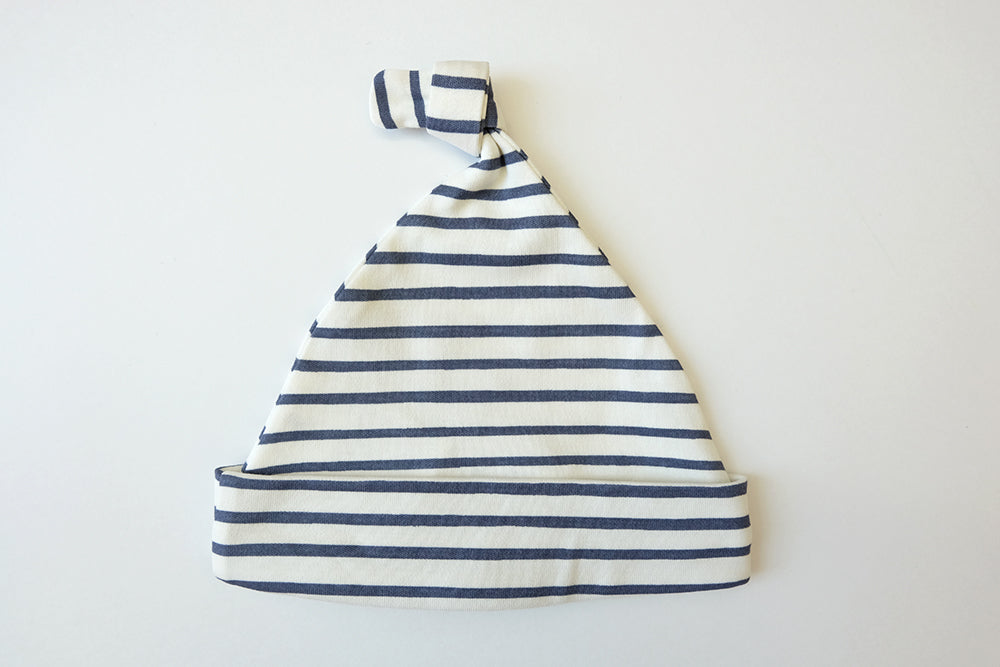 Striped Newborn Knotted Baby Hat