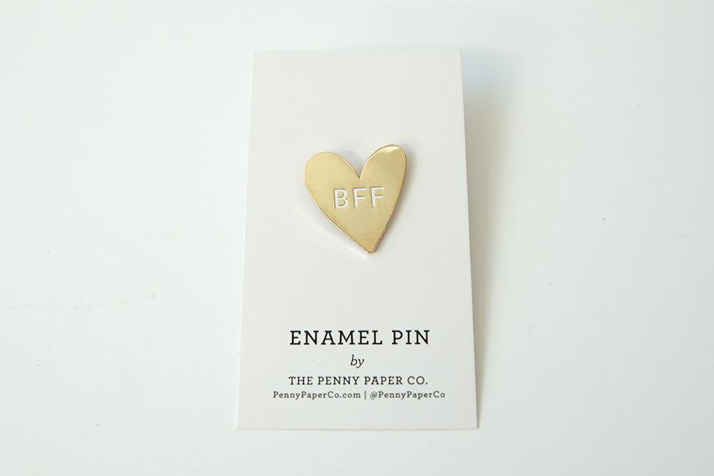 BFF enamel gold pin