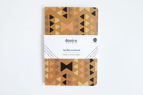 Triangle Print Blank Notebook