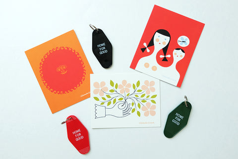 Home for Good Keychain, Card & Postage