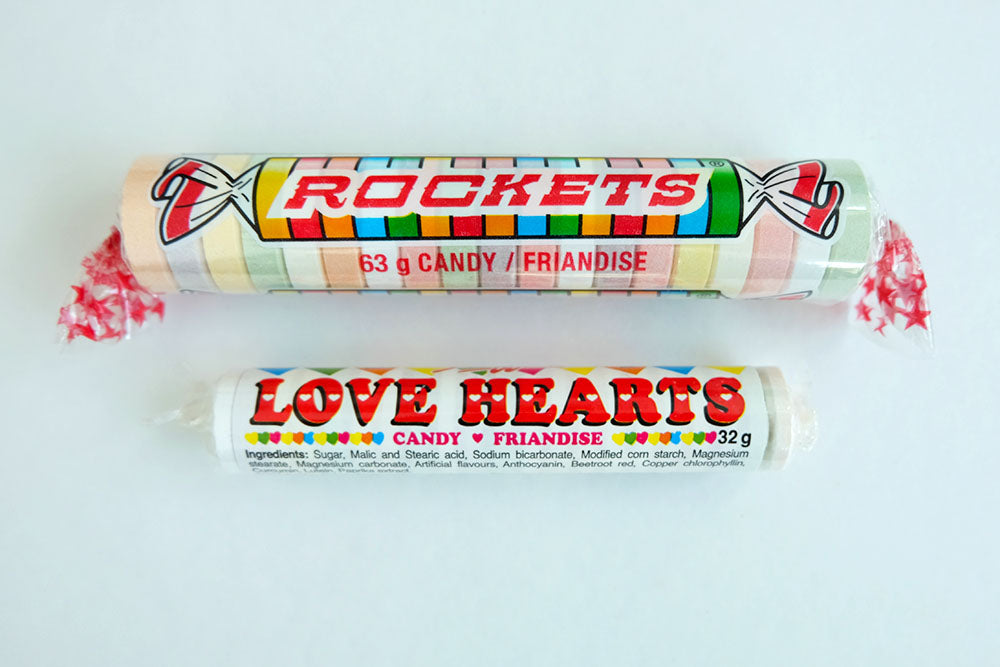 Giant Rockets or Love Hearts