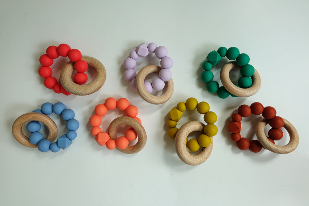Silicone & Wood Teething Ring