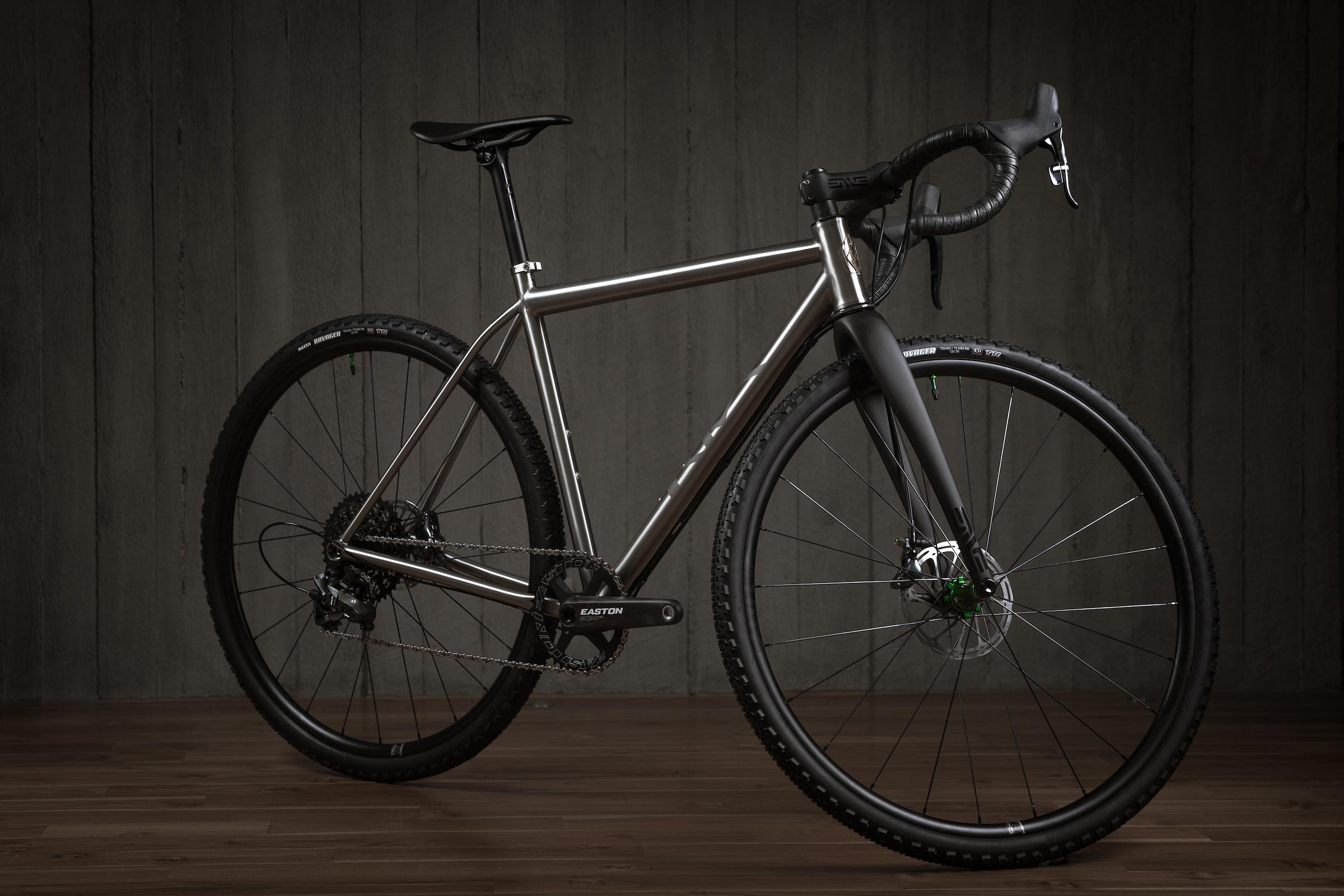Rise Bikes Greywolf Titanium Gravel-Road / Cross Bike 3/4 Profile