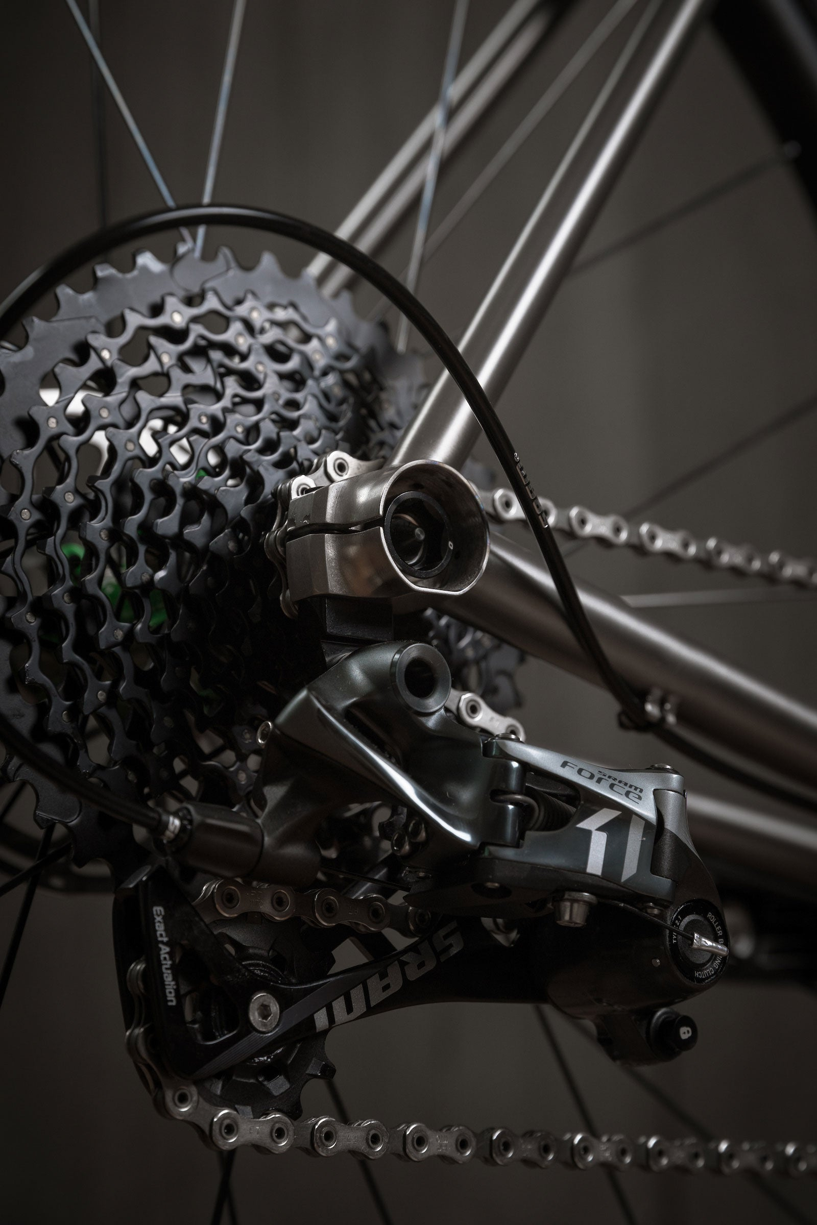 Rise Bikes Greywolf Titanium Gravel-Road / Cross Bike Syntace Dropout Derailleur