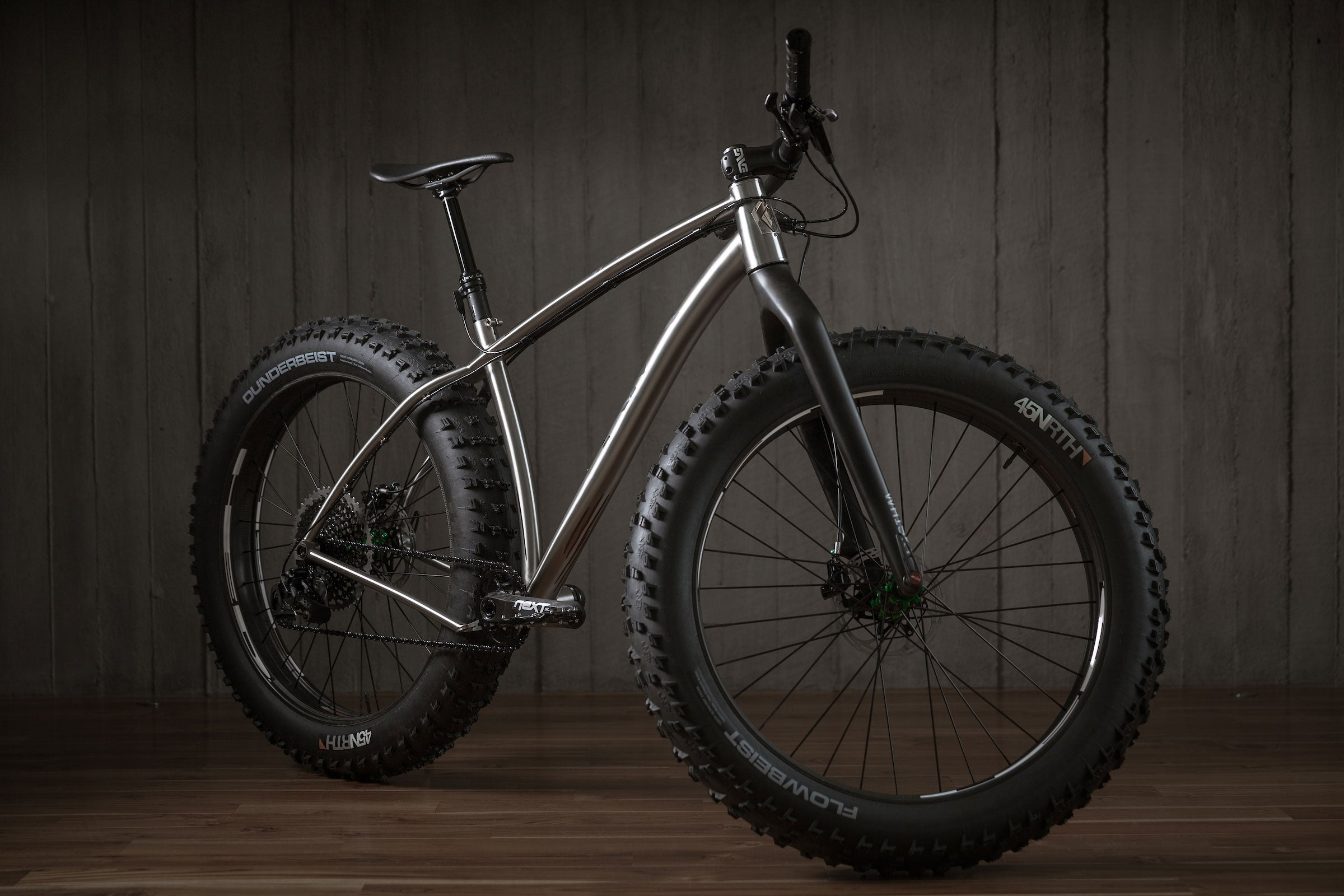 Rise Bikes Grizzly Titanium Fat Bike 3/4 Profile