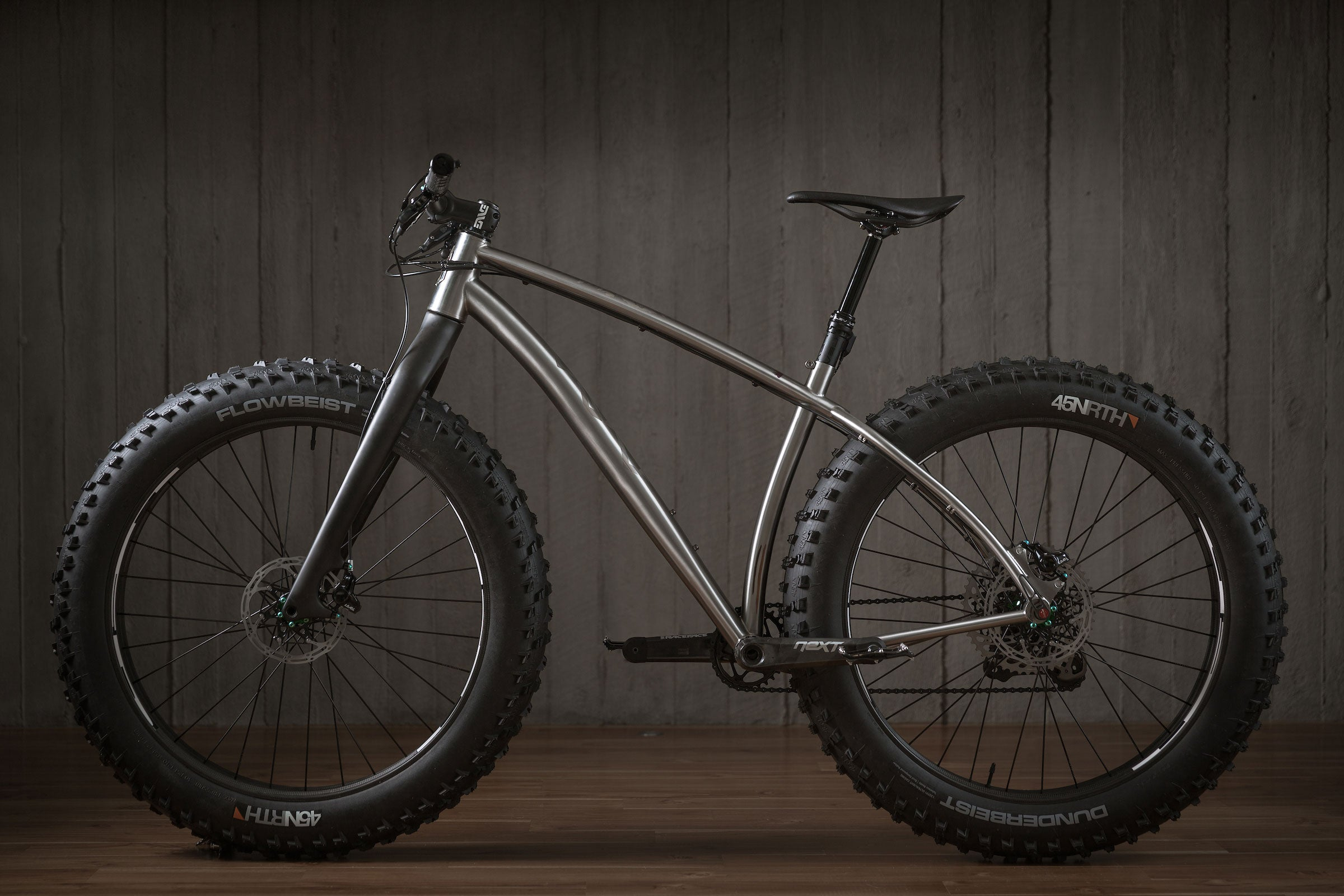 Rise Bikes Grizzly Titanium Fat Bike Profile NDS