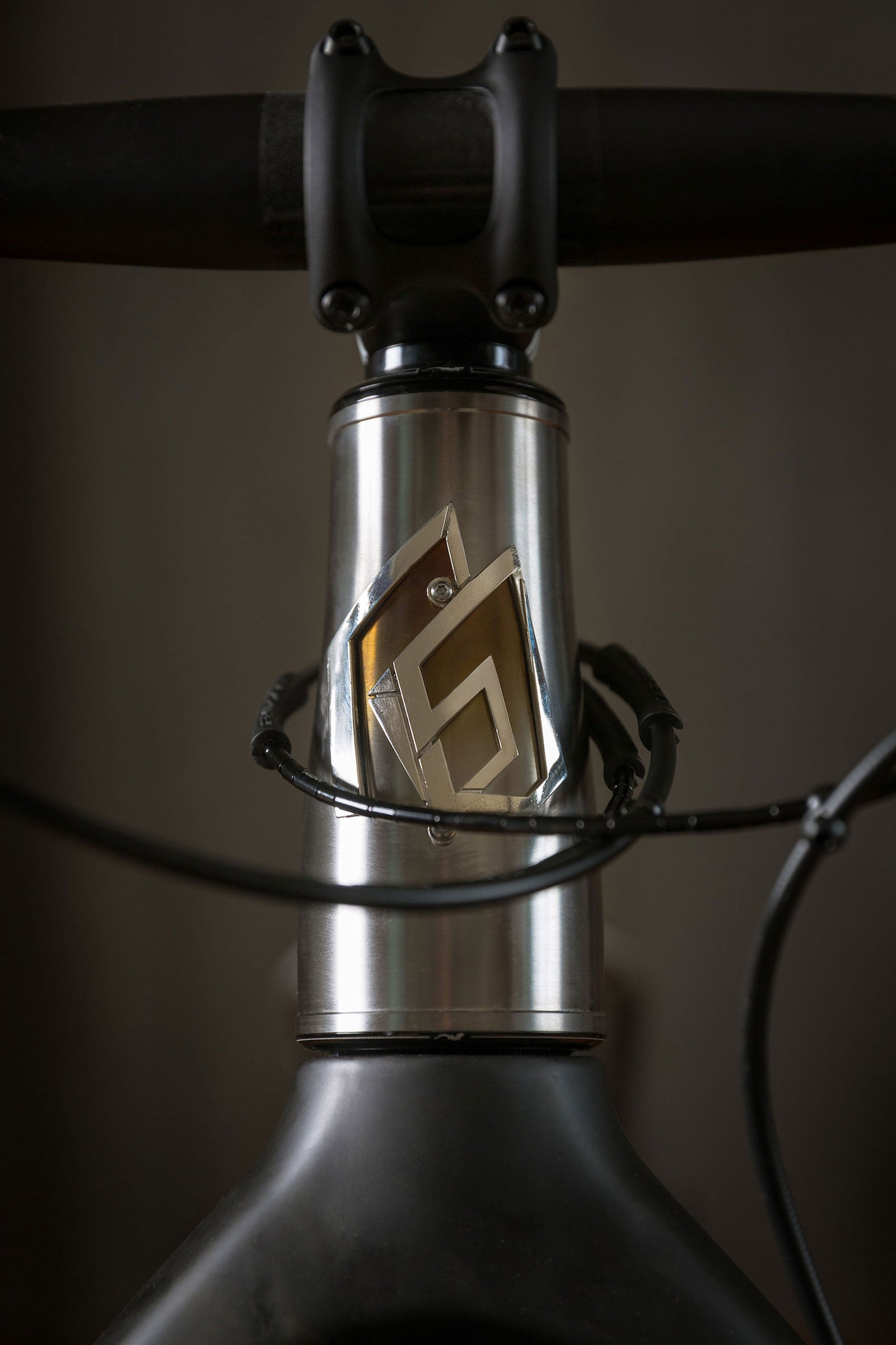 Rise Bikes Grizzly Titanium Fat Bike Head Badge