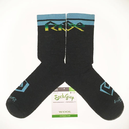 Rise Bikes SockGuy Wooligan Wool Logo Socks