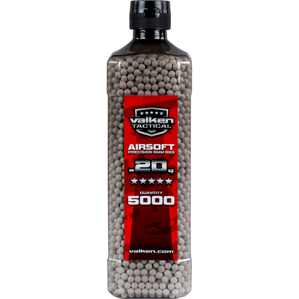 Valken Tactical 0.20g 5000ct Bottle BB's - White