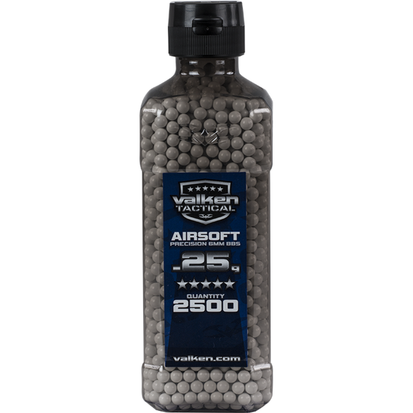 Valken Tactical 0.25g 2500ct Bottle BB's - White