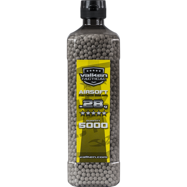 Valken Tactical 0.28g 5000ct Bottle BB's - White