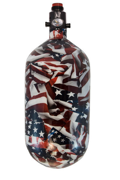 Ninja SL Comp Air Tank <br>w/Ultralite Reg 68/4500<br> Merica Graphic