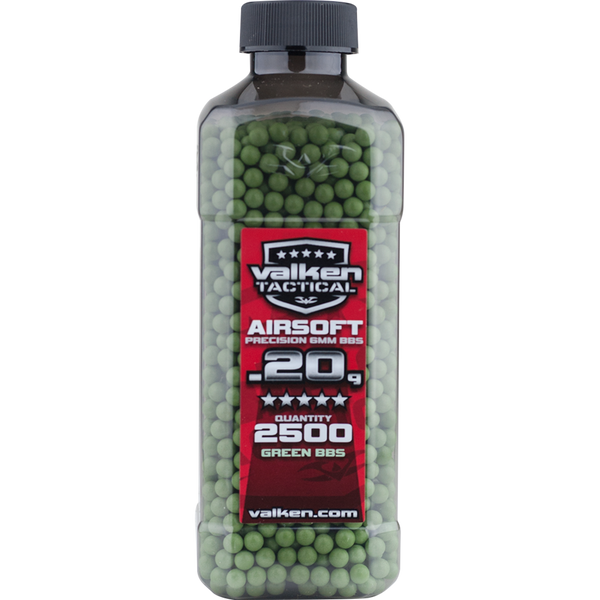 Valken Tactical 0.20g 2500ct Bottle BB's - Green