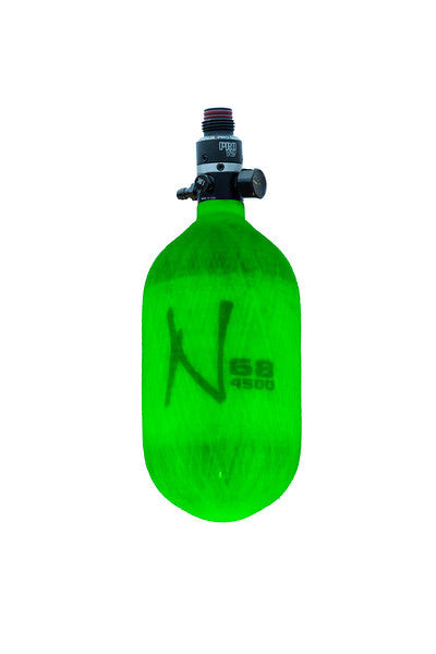 Ninja Comp Air Tank <br>w/ProV2 SLP Reg 68/4500<br> Translucent Lime