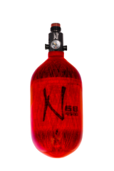 Ninja Comp Air Tank <br>w/Ultralite Reg 68/4500<br> Translucent Red