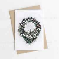 3 Christmas Cards - Floral Set