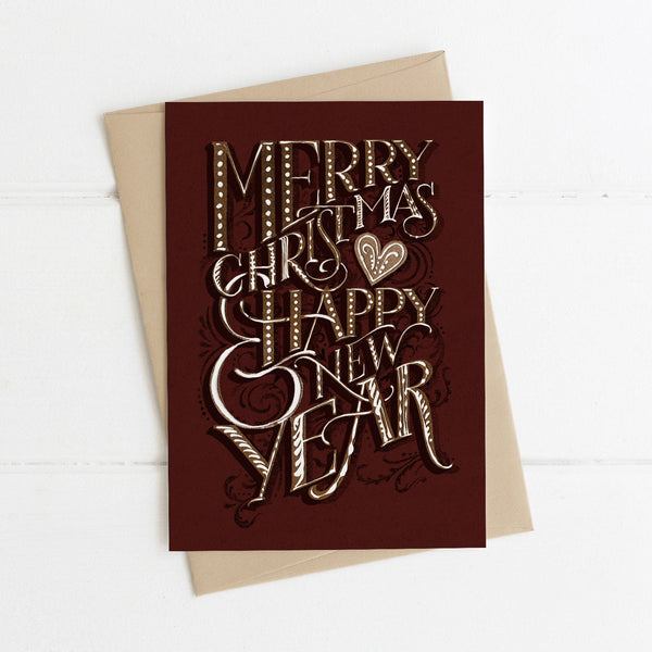 Christmas Card Gingerbread Lettering