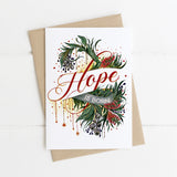 Here Comes Hope Floral Christmas Card