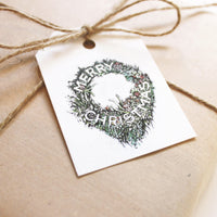 Native Wreath Gift Tag - 10-pack
