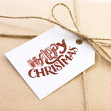 Happy Christmas Gift Tag 10-pack