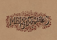 Christmas Card Brown Gingerbread Lettering